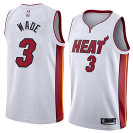 Баскетбольная майка NBA Майами Xит белая № 3 Дуэйн Уэйд SWINGMAN