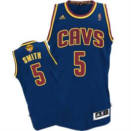 Баскетбольная майка Кливленд Кавальерс № 5 Смит Джей Ар синяя SWINGMAN REV30