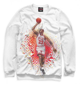кофта NBA белая Чикаго Булс с Майклом Джорданом