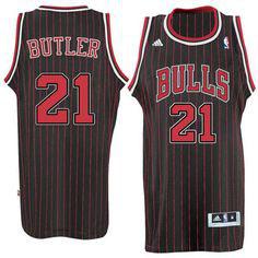 Баскетбольная майка Чикаго Булс №21 Батлер Джимми черная с красным альтернативная SWINGMAN REV30
