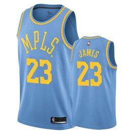 Лос-Анджелес Лейкерс  № 23 Леброн Джеймс голубая баскетбольная майка NBA