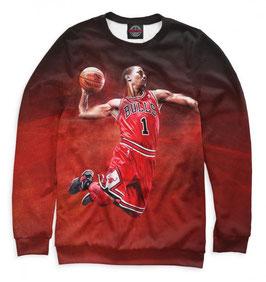 кофта NBA красная Чикаго Булс Деррик Роуз