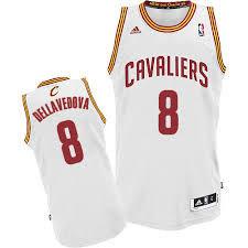 Баскетбольная майка Кливленд Кавальерс / Cleveland Cavaliers № 8 Деллаведова Меттью белая SWINGMAN REV30