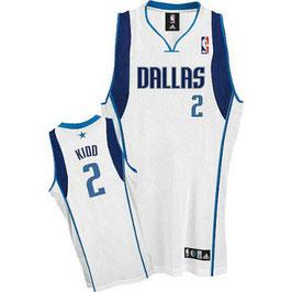 Баскетбольная майка NBA Даллас Маверикс № 2 Джейсон Кидд белая SWINGMAN REV30