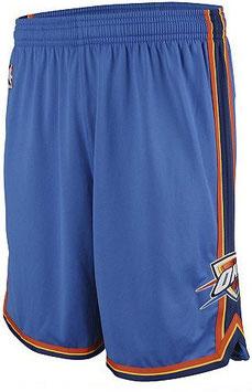 Баскетбольные шорты НБА Оклаxома Сити Тандер голубые SWINGMAN REV30