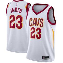 Баскетбольная майка Кливленд Кавальерс / Cleveland Cavaliers № 23 Леброн Джеймс домашняя белая SWINGMAN 2017