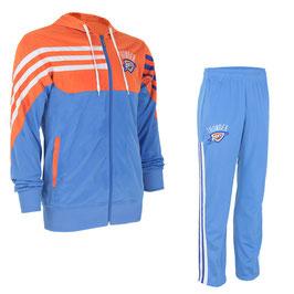 разминочный баскетбольный костюм НБА команды Оклахома-Сити Тандер цвет голубой