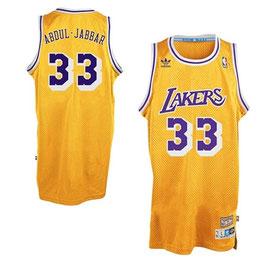Баскетбольная майка NBA Лос-Анджелес Лейкерс №33 Карим Абдул Джаббар желтая SWINGMAN Retro
