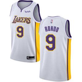 Лос-Анджелес Лейкерс  № 9 Рэджон Рондо белая баскетбольная майка NBA