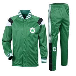 разминочный баскетбольный костюм НБА команды Бостон Селтикс цвет зеленый