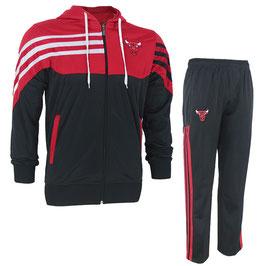 купить разминочный костюм с капюшоном команды NBA Чикаго Булс цвет черный/красный