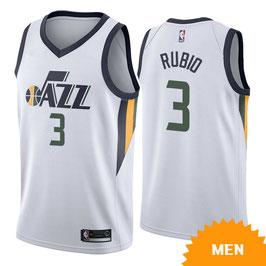 ЮТА ДЖАЗ № 3 Рикки Рубио белая баскетбольная майка NBA SWINGMAN