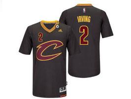 Баскетбольная майка Кливленд Кавальерс / Cleveland Cavaliers черная с рукавом № 2 Кайри Ирвинг SWINGMAN REV30