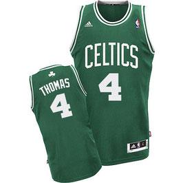 Баскетбольная майка Бостон Селтикс № 4 Айзея Томас зеленая SWINGMAN REV30