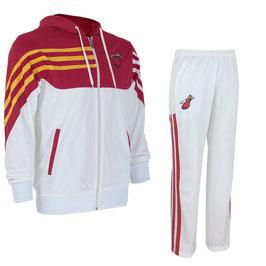 разминочный баскетбольный костюм НБА команды Майами Хит цвет белый