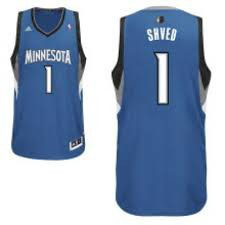 Баскетбольная майка Миннесота Тимбервулвс № 1 Швед Алексей синяя SWINGMAN REV30