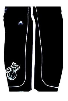 Баскетбольные шорты НБА Майами Xит черные/черные SWINGMAN REV30