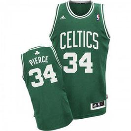 Баскетбольная майка Бостон Селтикс № 34 Пирс Пол зеленая гостевая SWINGMAN REV30