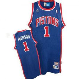 DETROIT PISTONS № 1  ALLEN IVERSON синяя SWINGMAN РЕТРО баскетбольная майка NBA