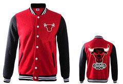Купить куртку Чикаго Булс красную