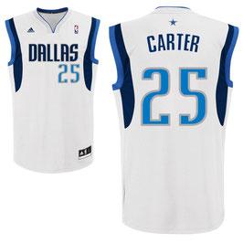 Баскетбольная майка NBA Даллас Маверикс № 25 Картер Винс белая SWINGMAN REV30
