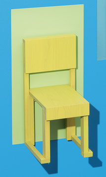 Chair EASYDiA Kids (18 months - 4 yrs) #1 Monocolour Limited Edition. Model GRANNY SMITH LIMITED.