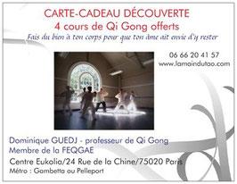 Carte découverte 4 cours de Qi Gong