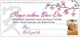 Chèque-cadeau massage corps 1h00