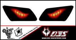 1 jeu de caches phares DJS pour YAMAHA  r1-1998-2003 microperforés qui laissent passer la lumière - référence : YAMAHA  r1-1998-2003-yeux modèle 6-
