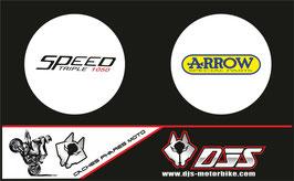 1 jeu de caches phares DJS pour Triumph speed triple microperforés qui laissent passer la lumière - référence : speed triple-2007-2010-003-