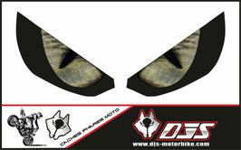 1 jeu de caches phares DJS pour Kawasaki Z1000 2015-2019 microperforés qui laissent passer la lumière - référence : z1000-2015-2019-yeux modèle 3-