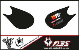 1 jeu de caches phares DJS pour Kawasaki zx10r 2006-2007 microperforé qui laissent passer la lumière - référence :zx10r-2006-2007-007-