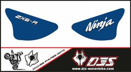1 jeu de caches phares DJS pour Kawasaki zx6r microperforé qui laisse passer la lumière - référence : ZX6R-2003-2004-007-