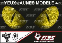 1 cache phare DJS pour SUZUKI GSR 750 2011-2017 microperforé qui laisse passer la lumière - référence : SUZUKI GSR 750 2011-2017-yeux modèle 4-