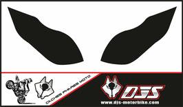 1 jeu de caches phares DJS pour Kawasaki zx6r microperforés qui laissent passer la lumière - référence : zx6-r-2009-2012-noir uni-