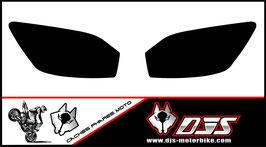 1 jeu de caches phares DJS pour YAMAHA r6 1999-2002 microperforés qui laissent passer la lumière - référence : r6-1999-2002-noir uni