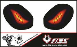 1 jeu de caches phares DJS pour TRIUMPH speed triple-2011-2015 microperforés qui laissent passer la lumière - référence : yeux modèle 6-