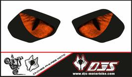 1 jeu de caches phares DJS pour YAMAHA R6 2017-2021 microperforés qui laissent passer la lumière - référence : YAMAHA R6 2017-2021-yeux modèle 3-