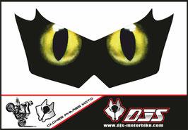 1 cache phare DJS pour KAWASAKI  Z750-2007-2014 microperforé qui laisse passer la lumière - référence : KAWASAKI  Z750-2007-2014-yeux modèle 12-