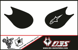 1 jeu de caches phares DJS pour Kawasaki zx10r 2006-2007 microperforé qui laissent passer la lumière - référence :zx10r-2006-2007-006-