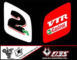 1 jeu de caches phares DJS pour Honda vtr sp1-sp2  microperforés qui laissent passer la lumière - référence : VTR SP1-SP2-004-