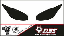 1 jeu de caches phares DJS pour Triumph daytona 2009-2012 microperforés qui laissent passer la lumière - référence : daytona-2009-2012-noir uni-