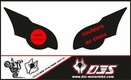 1 jeu de caches phares DJS pour HONDA CBR 1000 RR  microperforés qui laissent passer la lumière - référence : CBR 1000-2008-2011-personnalisé-