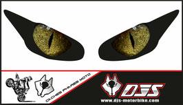 1 jeu de caches phares DJS pour  Triumph daytona 2009-2012 microperforés qui laissent passer la lumière - référence : yeux modèle 4-