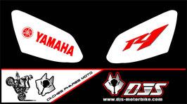 jeu de caches phares DJS pour YAMAHA R1 2007-2008 microperforé qui laissent passer la lumière - référence : r1-2007-2008-034-