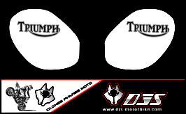 1 jeu de caches phares DJS pour Triumph street triple microperforés qui laissent passer la lumière - référence : street triple-2011-2012-014-