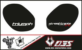 1 jeu de caches phares DJS pour Triumph street triple microperforés qui laissent passer la lumière - référence : street triple-2011-2012-012-