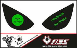 1 jeu de caches phares DJS pour Kawasaki zx6r microperforé qui laissent passer la lumière - référence : zx6r-2005-2006-personnalisé-