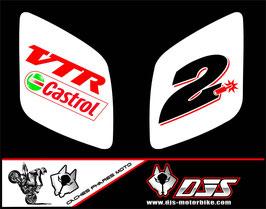 1 jeu de caches phares DJS pour Honda vtr sp1-sp2  microperforés qui laissent passer la lumière - référence : VTR SP1-SP2-011-