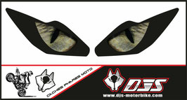 1 jeu de caches phares DJS pour Triumph daytona 2006-2008 microperforés qui laissent passer la lumière - référence : yeux modèle 3-